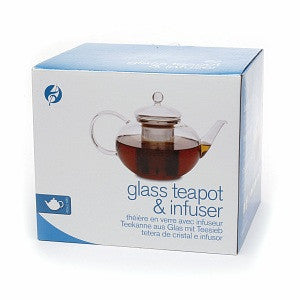 glass tea pot and stainless steel infuser