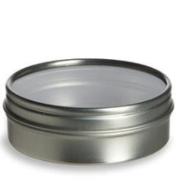 Flat Clear Top Tin