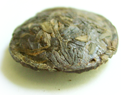 organic raw pu-erh tea buttons