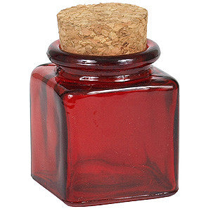 GLASS SPICE JAR W/CORK TOP