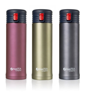 Tea thermos and infuser by Adagio. Hot and iced tea