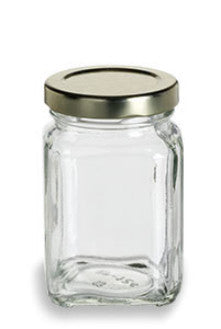 Victorian Square Glass Jar