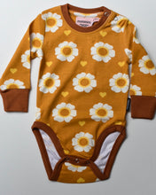 Load image into Gallery viewer, Moromini Organic 70's Flower Bodysuit Long sleeve