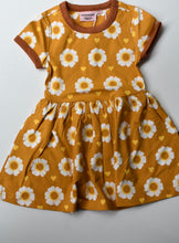 Load image into Gallery viewer, Moromini Organic 70's Flower Dress Short Sleeve