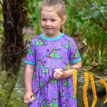 Load image into Gallery viewer, Coddi & Womple Rupert in the Rainbow Rain dress