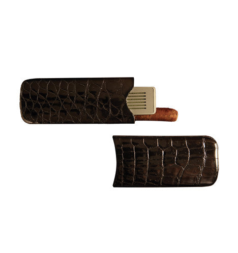Robusto Crocodile Cigar Case