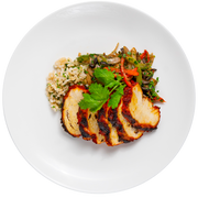 Get Crafted Meals Achiote Grilled Chicken Breast with Cilantro Lime Brown Rice and Fajita Vegetables