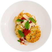 Get Crafted Meals Baked Eggplant Parmesan with Whole Wheat Spaghetti, Marinara, Basil and Parmesan