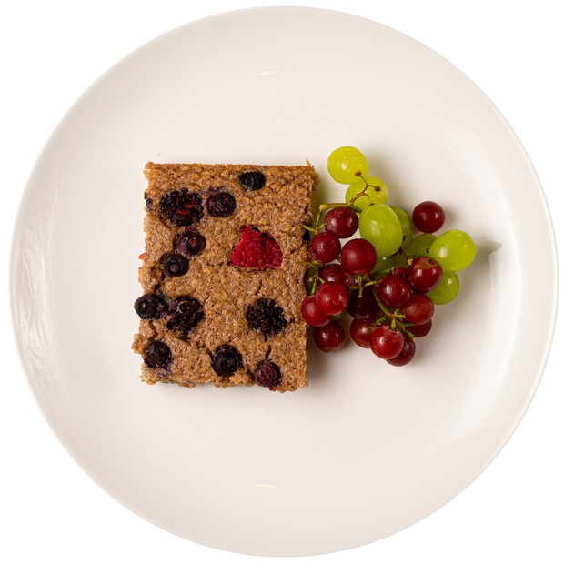 Get Crafted Meals Mixed Berry Oatmeal Bar with Grapes