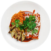 Get Crafted Meals Braised Beef Enchiladas with Spanish Brown Rice, Roasted Chayote Squash, and Queso Fresco