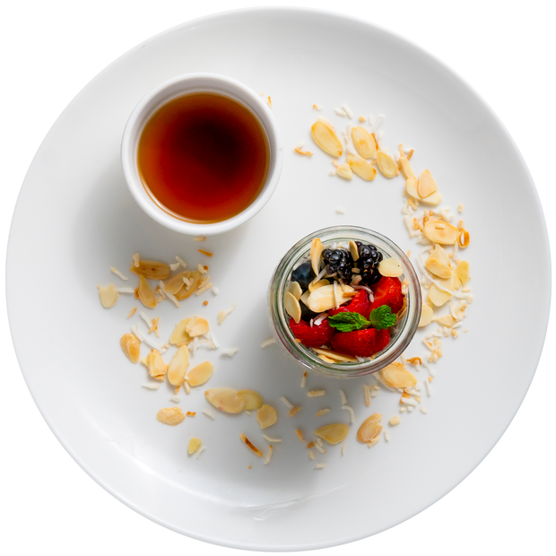 Get Crafted Meals Chia Seed Parfait with Agave, Fresh Berries and Toasted Sliced Almonds