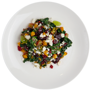Get Crafted Meals Super Foods Salad with Kale, Quinoa, Feta, Cranberries, Grapes, Beets, and Lemon Agave Vinaigrette