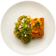 Get Crafted Meals Ground Turkey Chile Verde with Queso Fresco, Gluten Free Cornbread, Cilantro and Scallions