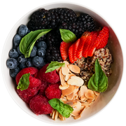 Get Crafted Meals Berry Quinoa Bowl with Sliced Almonds, Basil, and Agave