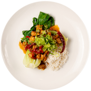 Get Crafted Meals Kung Pao Chicken with Steamed Jasmine Rice, Peanuts and Baby Bok Choy