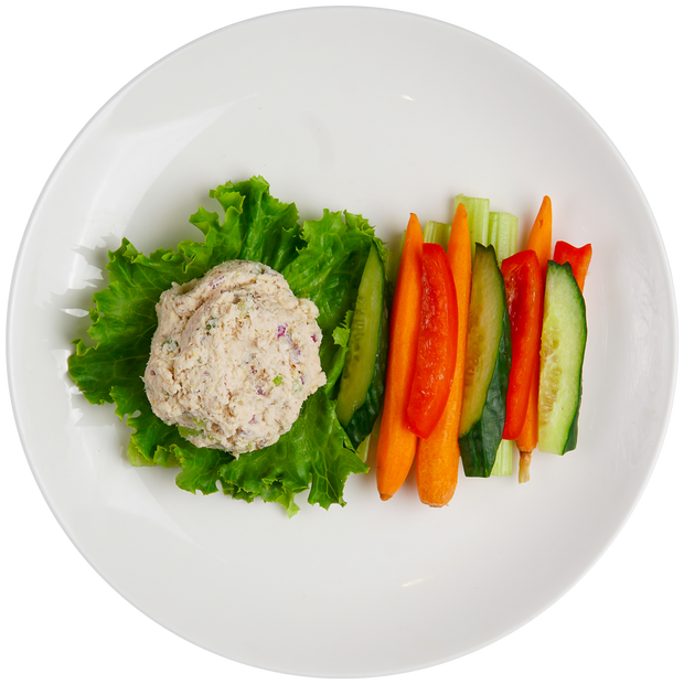 Tuna Salad Snack Pack with Carrots, Bell Peppers, Cucumbers, and Celery