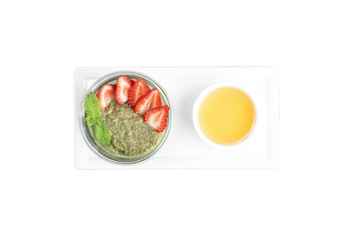 Get Crafted Meals Matcha Chia Parfait with Mint, Strawberries and Agave