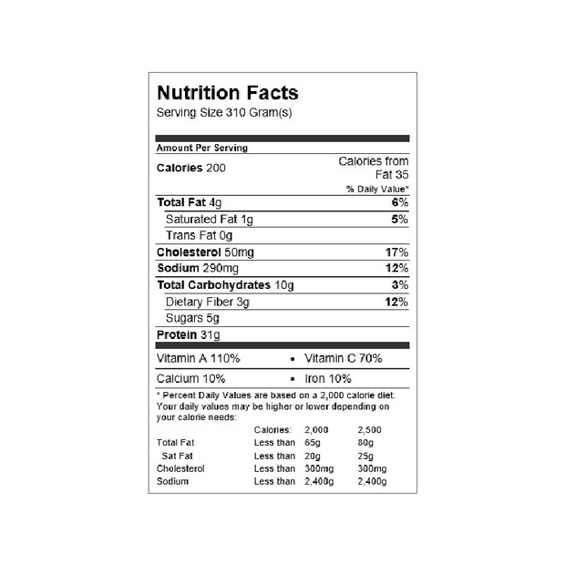 Tuna Salad Snack Pack Nutrition