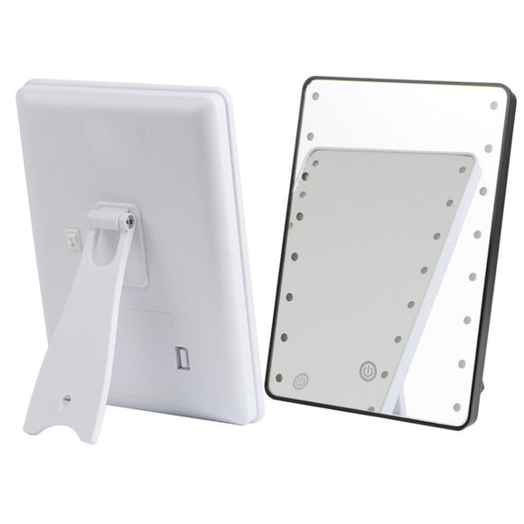 LED Adjustable Brightness Cosmetic Mirror With Touch Dimmer