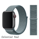 APPLE WATCH BAND, MULTI-COLORS, WOVEN NYLON STRAP