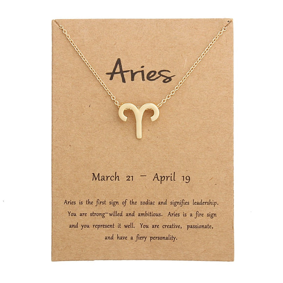 Zodiac Sign Necklace for her - YeeSales