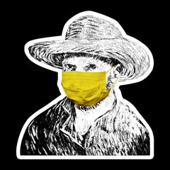 WALLHANG-Vincent-Van-Gogh-wearing-a-face-mask-during-the-coronavirus-(COVID-19)-pandemic