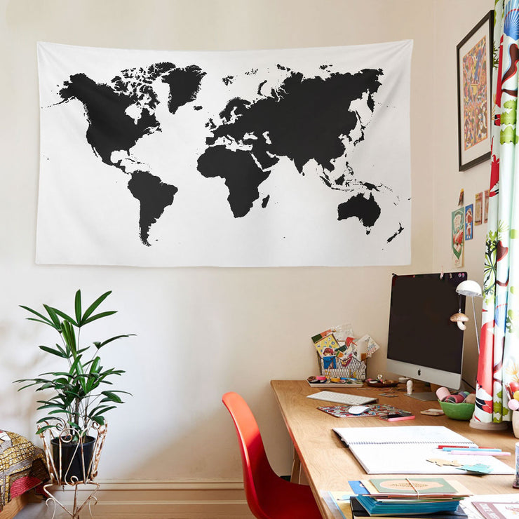 WALLHANG | World Map Black | Duvar Örtüsü | wallhang.com.tr