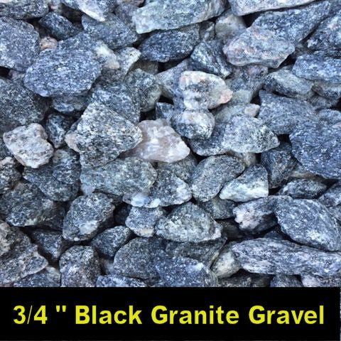 "3/4"" Black Granite Gravel"