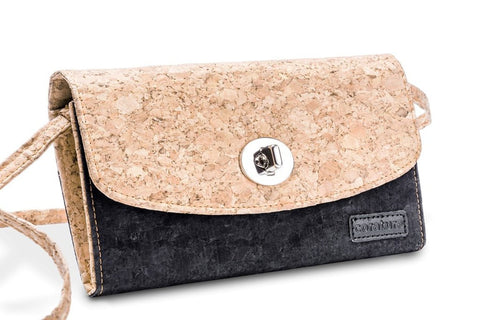Cork Handbag with Detachable Shoulder Strap