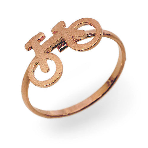 Mini Bicycle Ring - Rose Gold