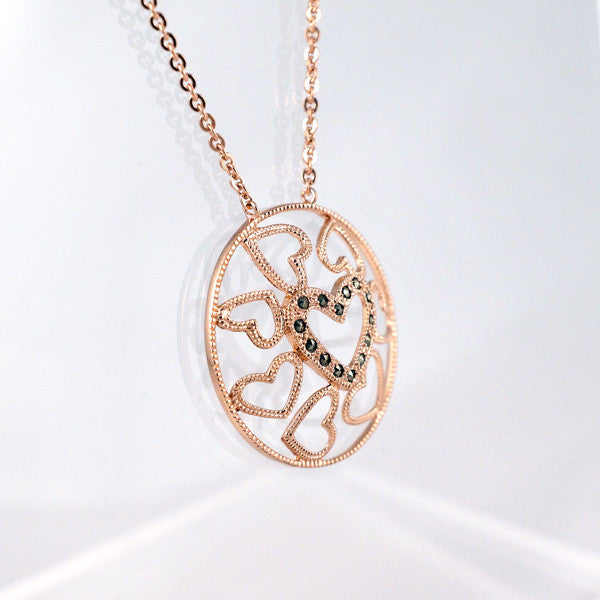 MARC - Rose Gold Plated Hearts Necklace
