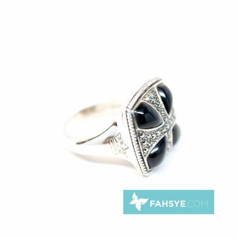 MARC - Men Marcasite/Black Onyx Ring