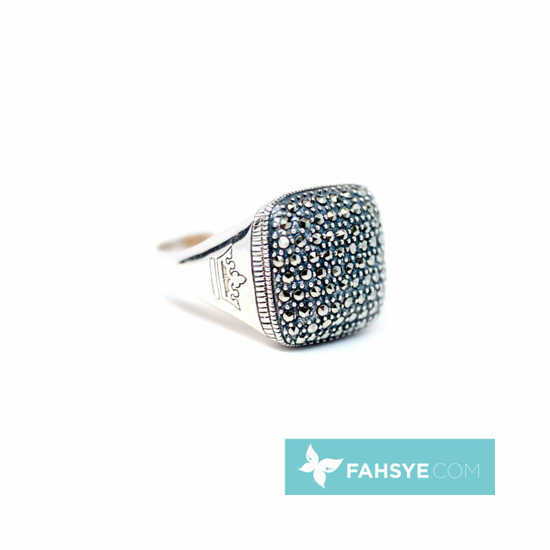 MARC - Men Marcasite Ring - 719