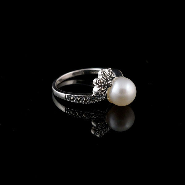 MARC - Fresh Water Pearls and Marcasite Rings