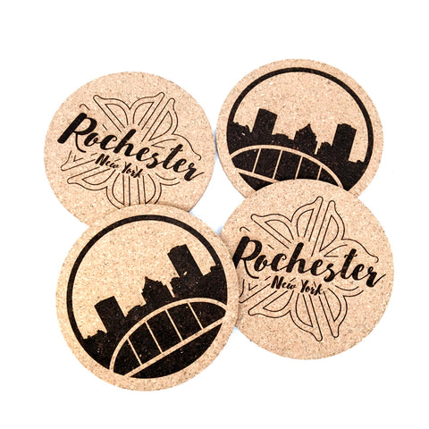 Rochester Cork Coaster Set