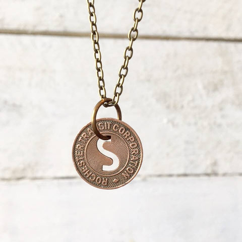 Rochester NYS Railways School Fare Token Necklace