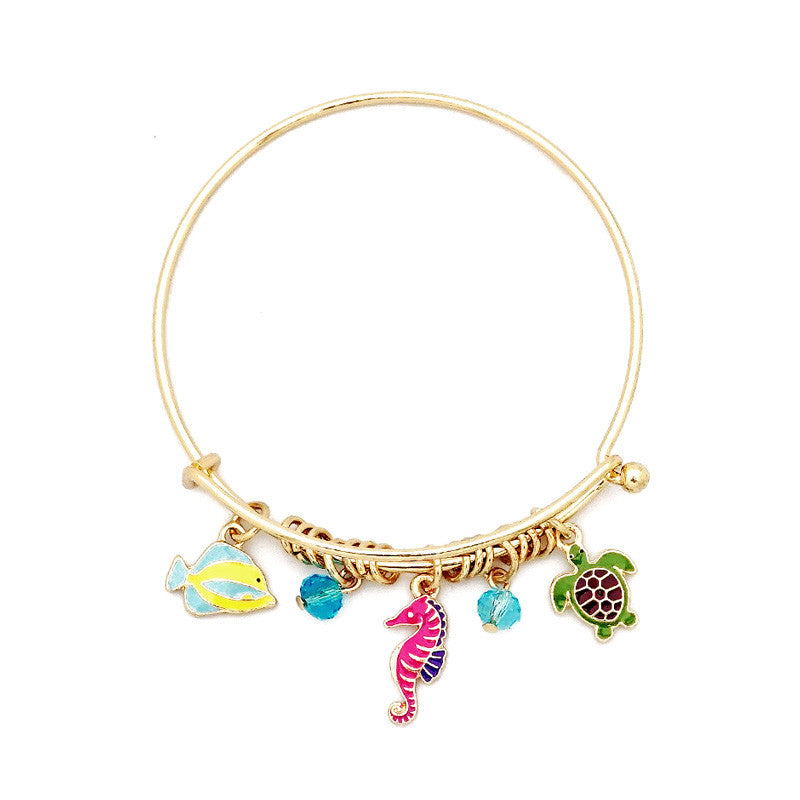 Under the Sea Theme Bangle Bracelet