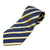 Silk Blend Tie - Dark blue and yellow stripes