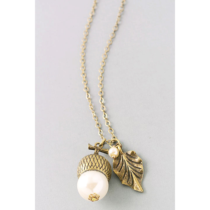 necklace gold rose silver htm p acorn pendant