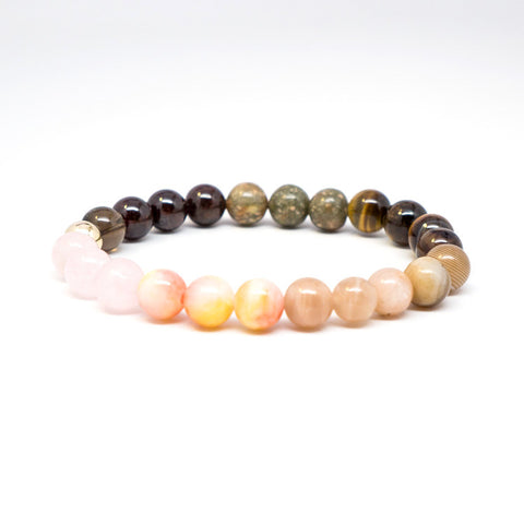 The Sunrise Stone Bead Stretch Bracelet