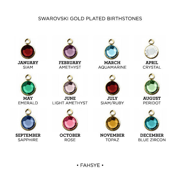 Love birds with birthstone