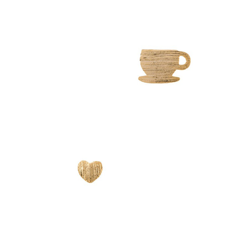Coffee Love mini stud earrings
