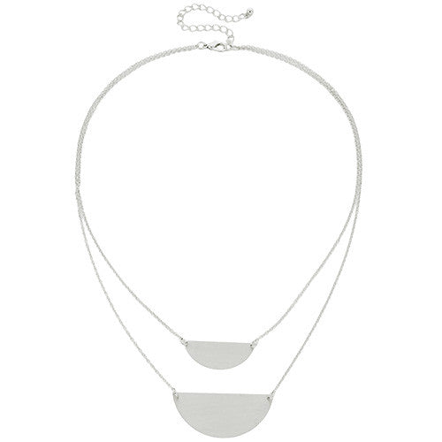 Half circle modern geometric necklace