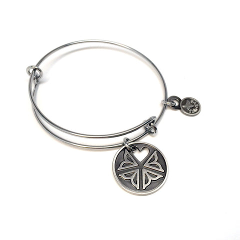 Heart Roc Flower City Charm Bangle - Stainless Steel