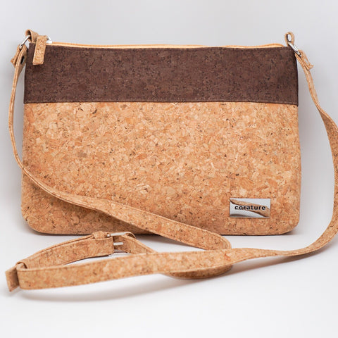 Cork Large Two-Tone Crossbody Bag-Cynthia