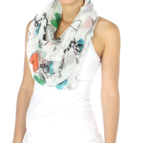Love, Peace, Happiness Infinity Scarf