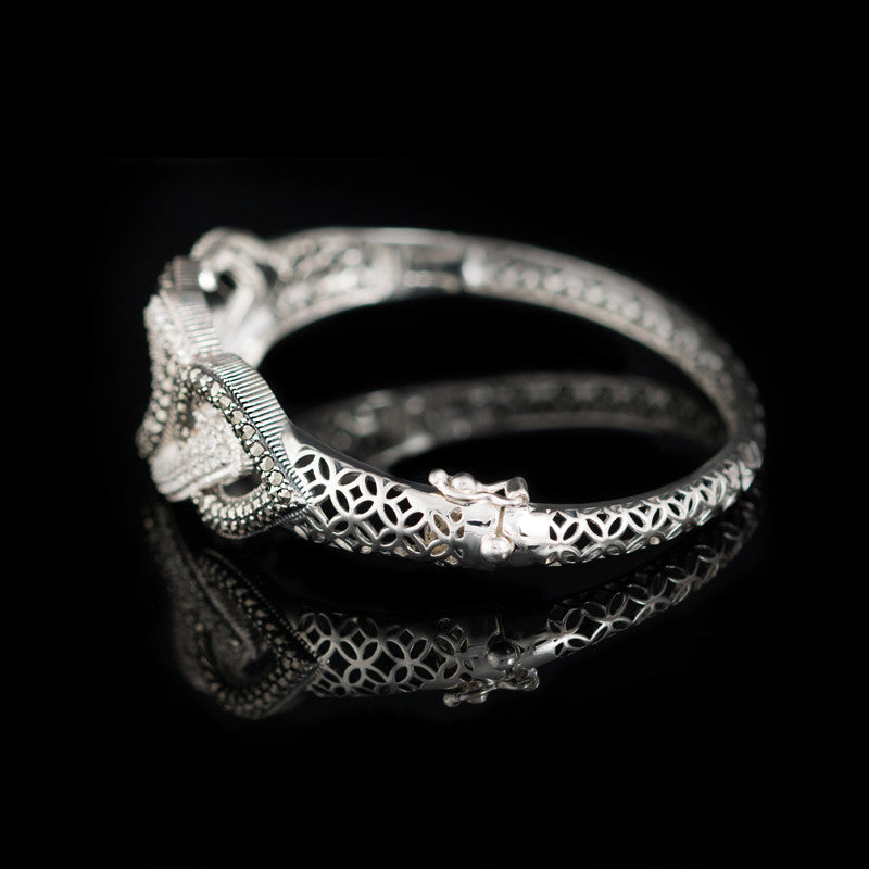 MARC - Teardrop Crystal and Marcasite Bracelet