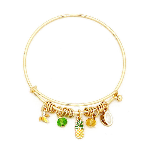 Pineapples Coconut Bangle Bracelet