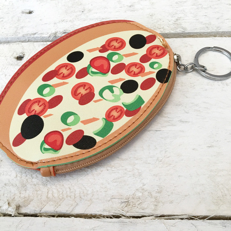 Pizza Coin Wallet Keyring