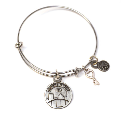 Rochester Charm Bangle - Stainless Steel